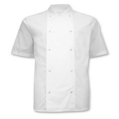 Alexandra  - Stud Fastening Chefs Jacket