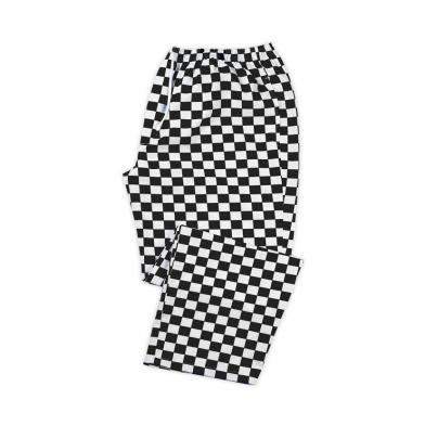 Alexandra  - Chefs Check Elasticated Waist Trousers
