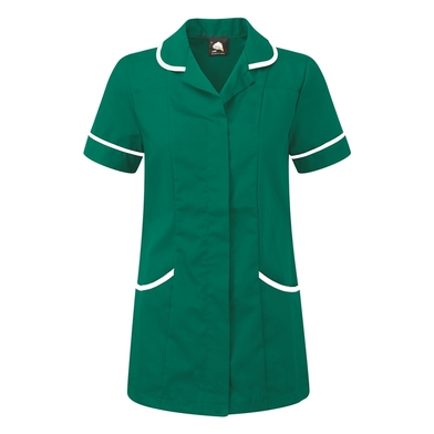 Florence Classic Healthcare Tunic  In Bottle/White Trim