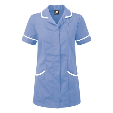 Florence Classic Healthcare Tunic  In Hospital Blue/White Trim