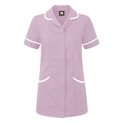 Florence Classic Healthcare Tunic  In Lilac/White