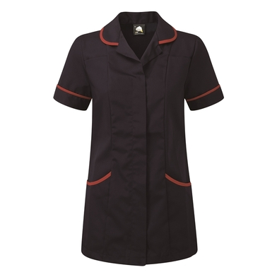 Florence Classic Healthcare Tunic  In Navy/Red