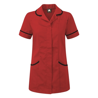 Florence Classic Healthcare Tunic  In Red/Navy