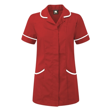 Florence Classic Healthcare Tunic  In Red/White