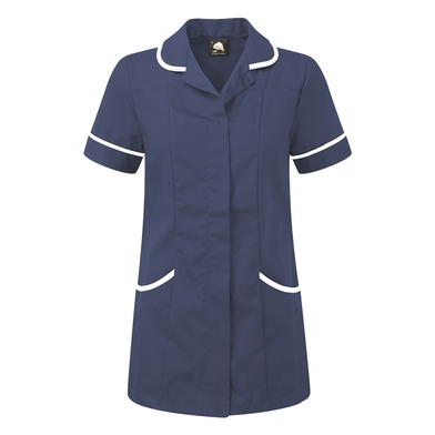 Florence Classic Healthcare Tunic  In Royal/White