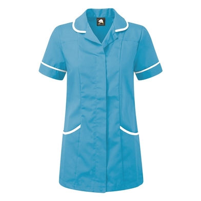 Florence Classic Healthcare Tunic  In Teal/White