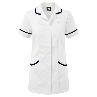 Florence Classic Healthcare Tunic  In White/Navy