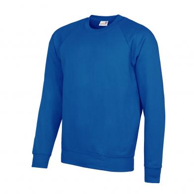 Academy Raglan Sweatshirt In Academy Royal Blue