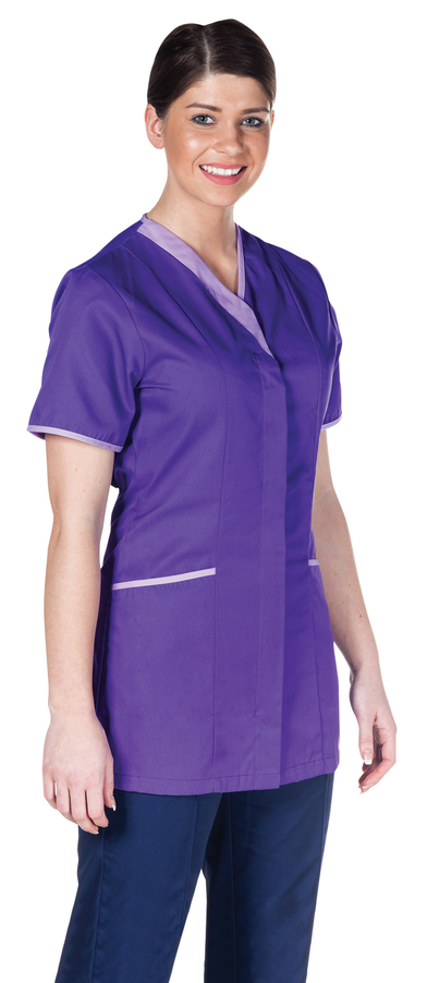 Asymmetric Tunic  In Purple / Lilac