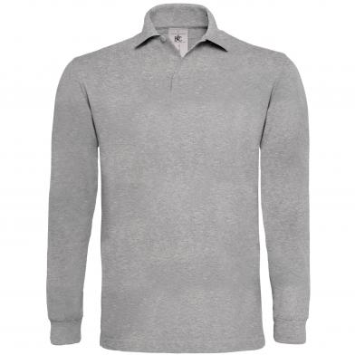 B&C Heavymill Long Sleeve In Heather Grey