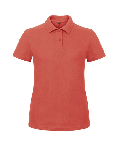B&C ID.001 Polo /women In Pixel Coral