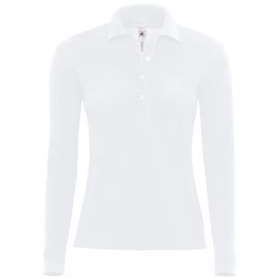 B&C Safran Pure Long Sleeve /women In White