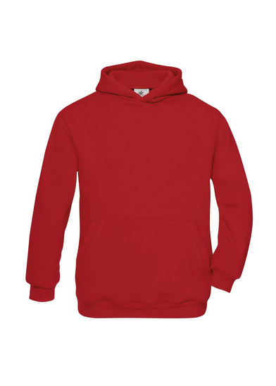 B&C Hooded /kids In Red