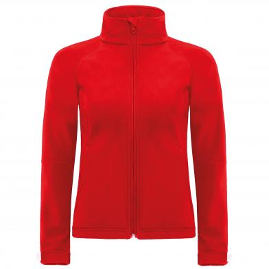B&C Hooded Softshell /women In Red