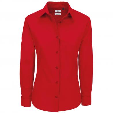 B&C Heritage Long Sleeve /women In Deep Red*