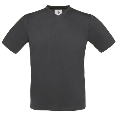 B&C Exact V-neck In Dark Grey