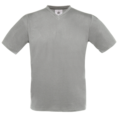 B&C Exact V-neck In Sports Grey