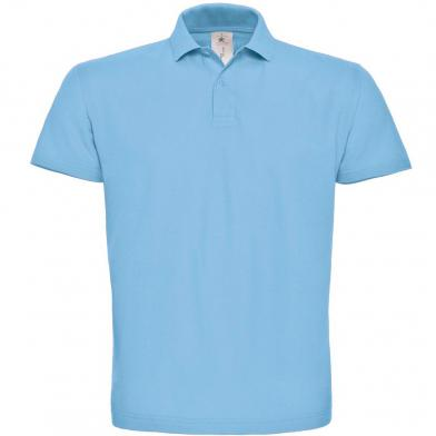 B&C ID.001 Polo In Light Blue