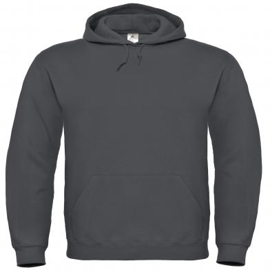 B&C ID.003 Hooded Sweatshirt In Anthracite
