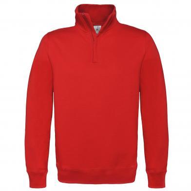 B&C ID.004 � Zip Sweatshirt In Red