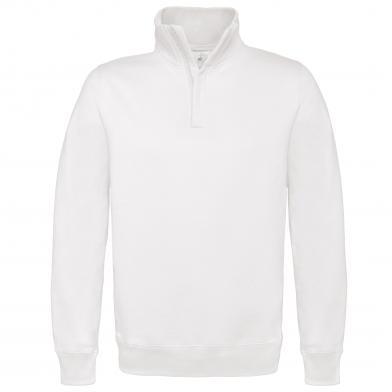 B&C ID.004 � Zip Sweatshirt In White