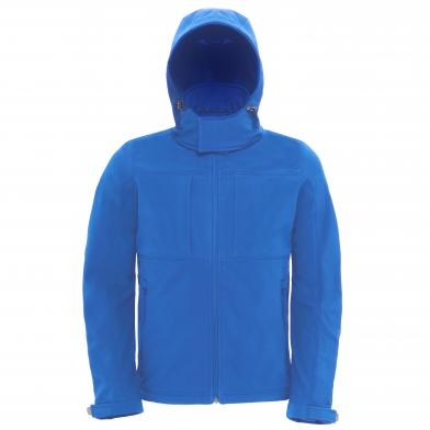 B&C Hooded Softshell /men In Azure