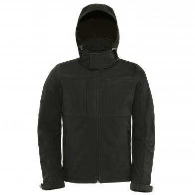 B&C Hooded Softshell /men In Black