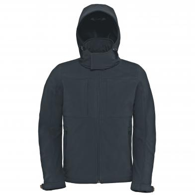 B&C Hooded Softshell /men In Dark Grey