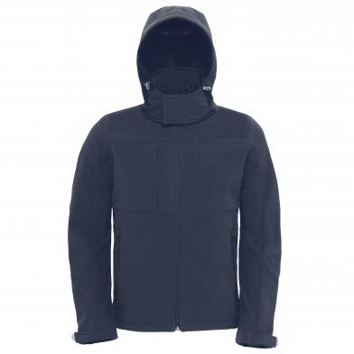 B&C Hooded Softshell /men In Navy