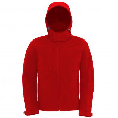 B&C Hooded Softshell /men In Red
