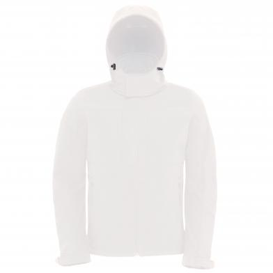 B&C Hooded Softshell /men In White