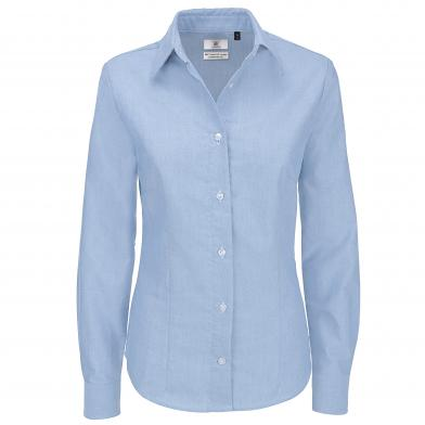 B&C Oxford Long Sleeve /women In Oxford Blue