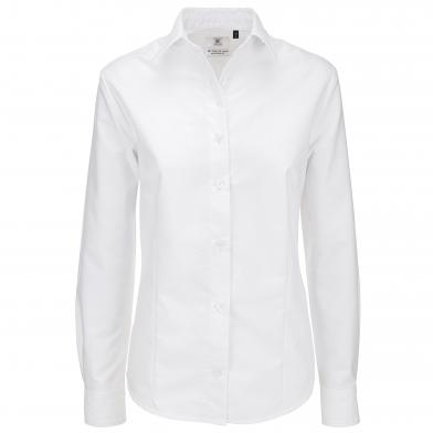 B&C Oxford Long Sleeve /women In White