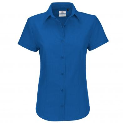 B&C Oxford Short Sleeve /women In Blue Chip