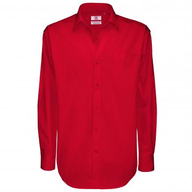 B&C Sharp Long Sleeve /men In Deep Red*