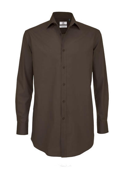 B&C Black Tie LSL /men In Coffee Bean