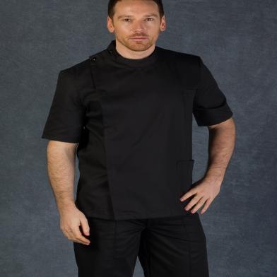 Male Dental Tunic  In Black