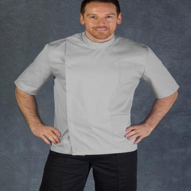 Male Dental Tunic  In Pale Grey