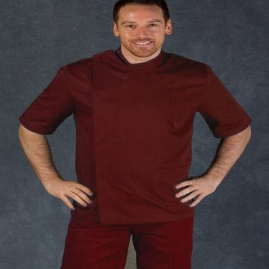 Male Dental Tunic  In Maroon