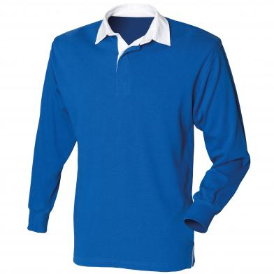 Front Row - Kids Long Sleeve Plain Rugby Shirt