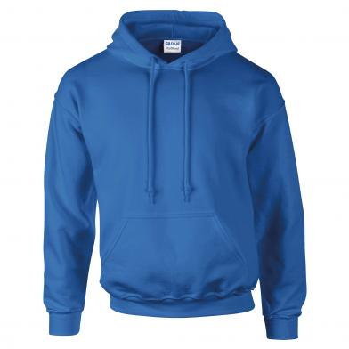 DryBlend� Adult Hooded Sweatshirt In Royal
