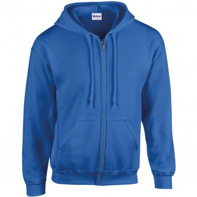 Heavy Blend�  Full Zip Hooded Sweatshirt In Royal