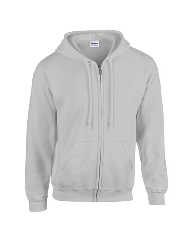 Heavy Blend� Youth Full-zip Hooded Sweatshirt In Sports Grey