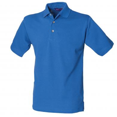 Classic Cotton Piqu� Polo With Stand-up Collar In Royal