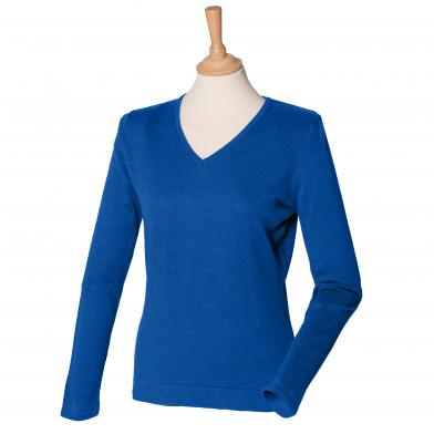 Henbury - Women's 12 Gauge V-neck Jumper