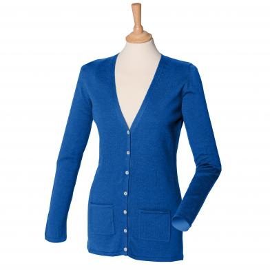 Henbury - Women's V-button Cardigan