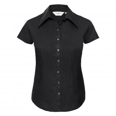 Russell Collection - Womens Cap Sleeve Tencel Fitted Shirt