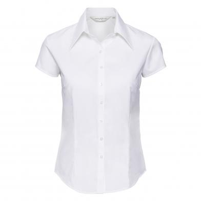 Russell Collection - WomenÕs Cap Sleeve Tencel Fitted Shirt