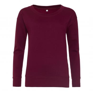 Girlie Fashion Sweatshirt In Burgundy
