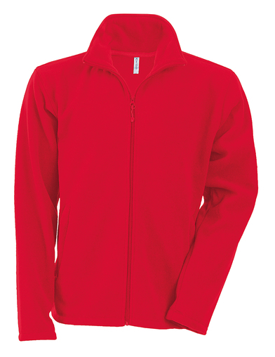 Falco Zip-through Microfleece Jacket In Red